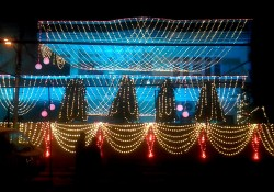 Light Decoration In Wedding Indian Wedding Light Decoration Youtube