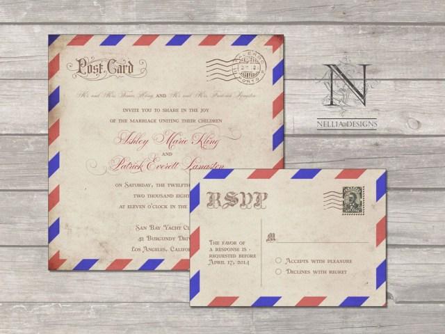 Mailing Wedding Invitations Postal Mail Wedding Invitations Vintage Antique Postcard Invites