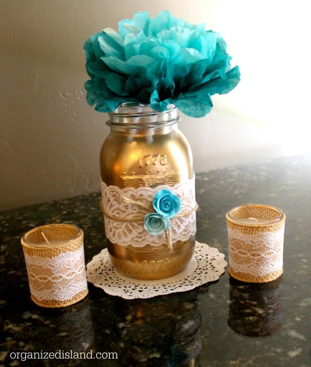 Mason Jar Decorations For A Wedding Bridal Shower Mason Jars