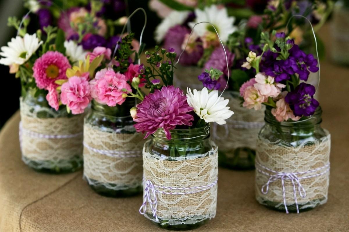 Mason Jar Decorations For A Wedding Mason Jar Centerpieces Wedding Ideas Wedding Party Decoration