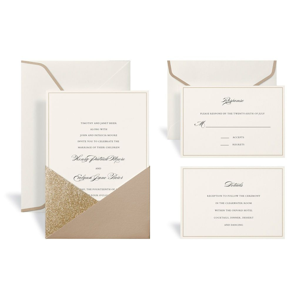 Michaels Wedding Invites Gold Wedding Invitation Kit Celebrate It My Wedding