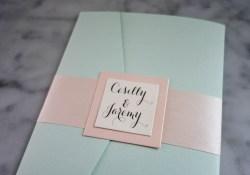 Mint Green Wedding Invitations Pocketfold Wedding Invitation In Mint Green Ivory Pewter And Soft