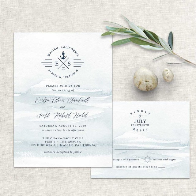 Nautical Wedding Invitation Template Nautical Wedding Invitations Anchor Ship Wedding Set
