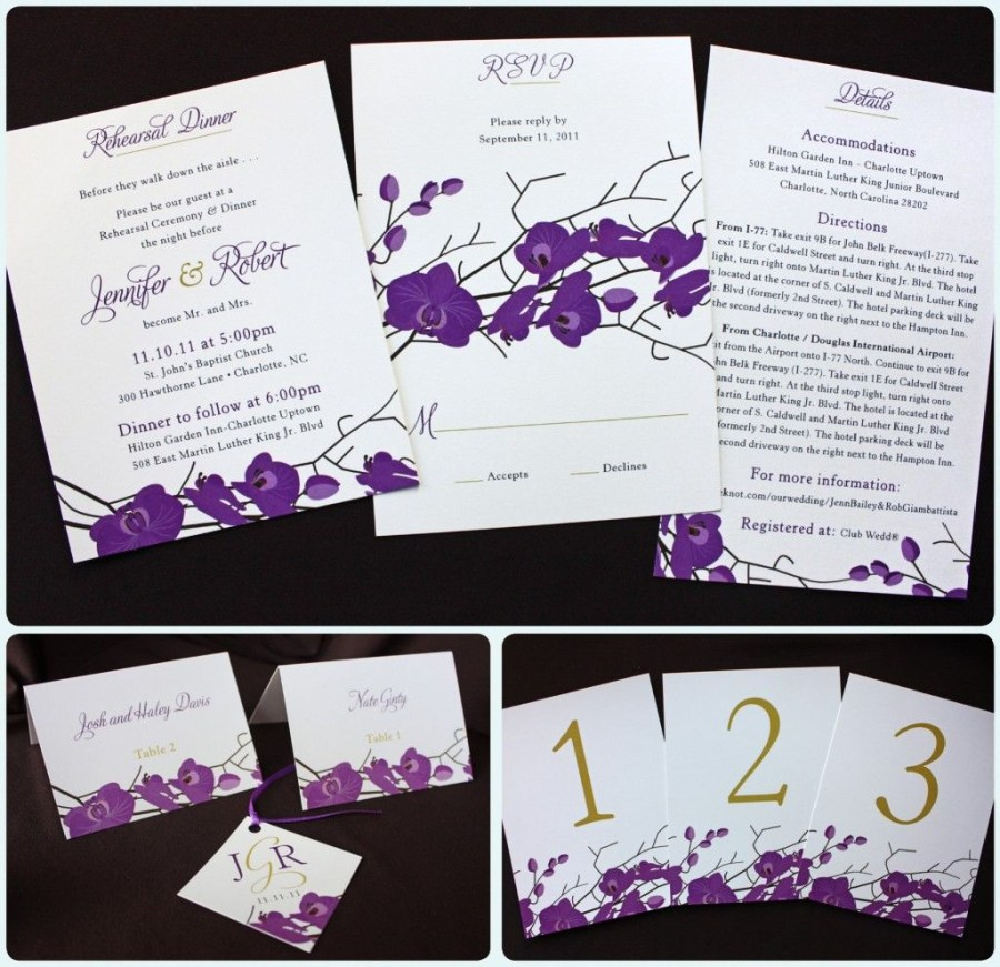 Orchid Wedding Invitations Cute Orchid Stationary Wedding Blitz Pinterest Table Numbers