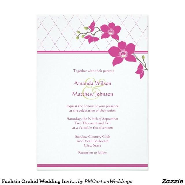 Orchid Wedding Invitations Fuchsia Orchid Wedding Invitations Pinterest Orchid Wedding