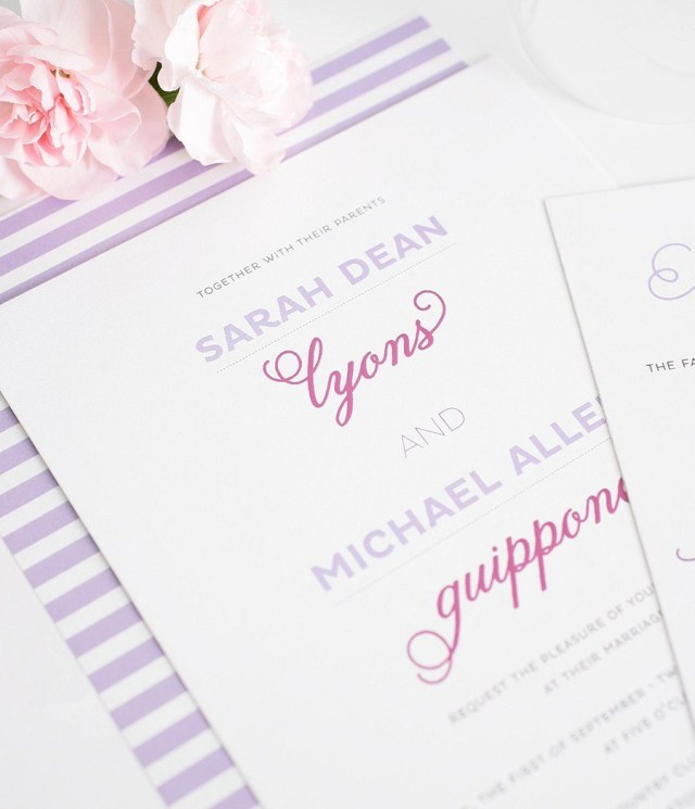 Orchid Wedding Invitations Whimsical Wedding Invitations In Light Purple And Orchid Wedding