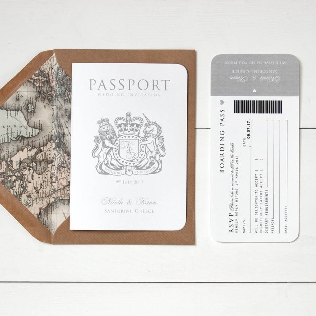 Passport Wedding Invitations Around The World Passport Wedding Invitation Ditsy Chic