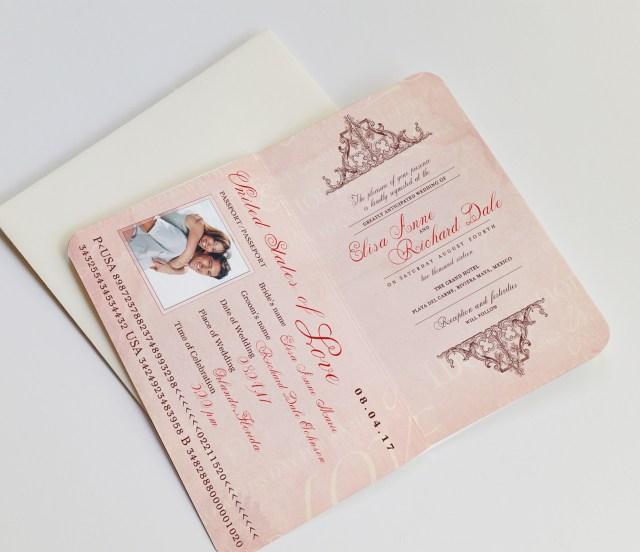 Passport Wedding Invitations Passport Wedding Invitation Destination Royal Dorchester Design