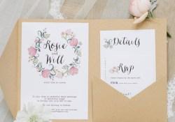 Pocketfold Wedding Invitations Pocketfold Wedding Invitation Tigerlily Wedding Stationery