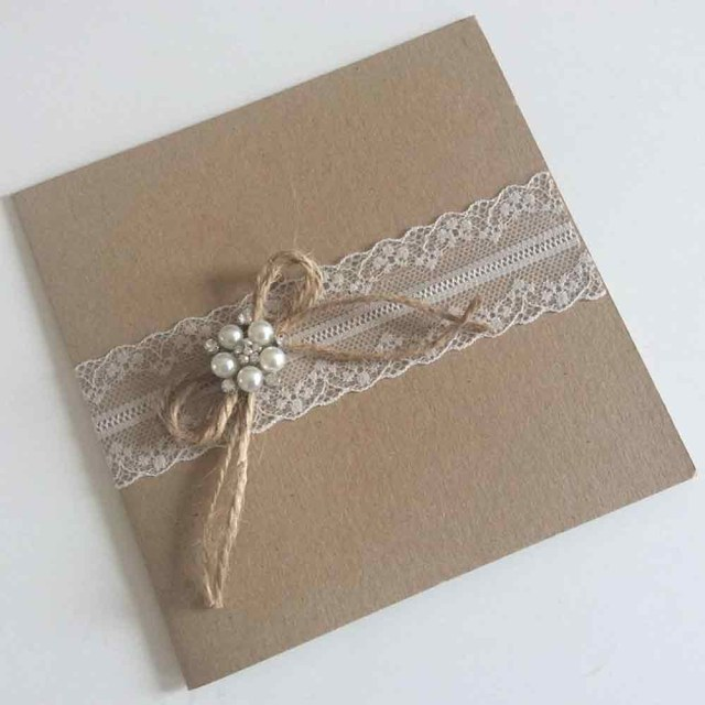 Pocketfold Wedding Invitations Rustic And Lace Pocketfold Wedding Invitation Wedding Paraphernalia