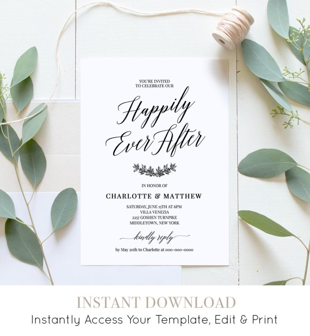 Post Wedding Party Invitations Wedding Reception Party Invitation Post Wedding Celebration After