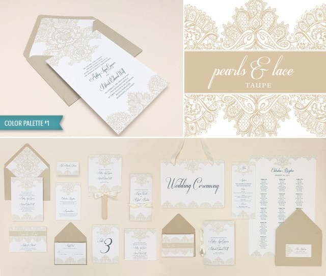 Printable Wedding Invitation Diy Elegant Lace Wedding Invitation Template Suite