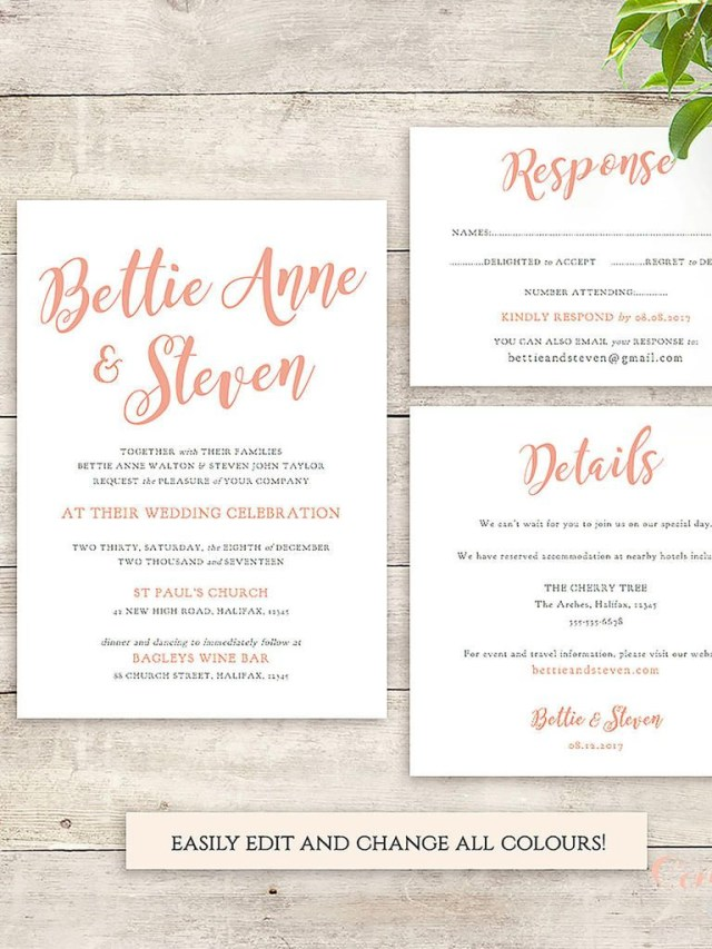 Printable Wedding Invitations Templates 16 Printable Wedding Invitation Templates You Can Diy Wedding