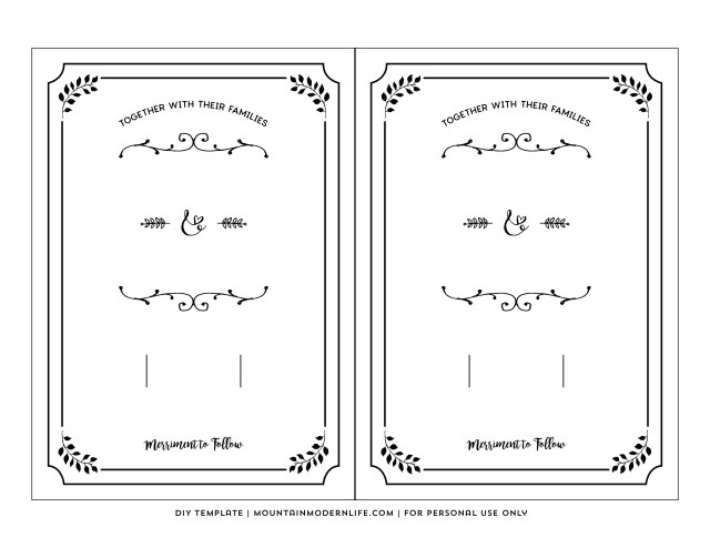 Printable Wedding Invitations Templates 20 Free Wedding Invitation Templates Printables Cafecanon