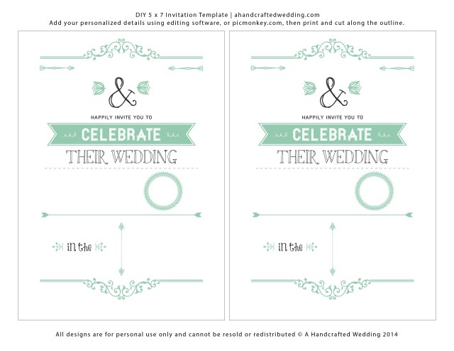 Printable Wedding Invitations Templates Printable Designs For Wedding Invitations Download Them Or Print