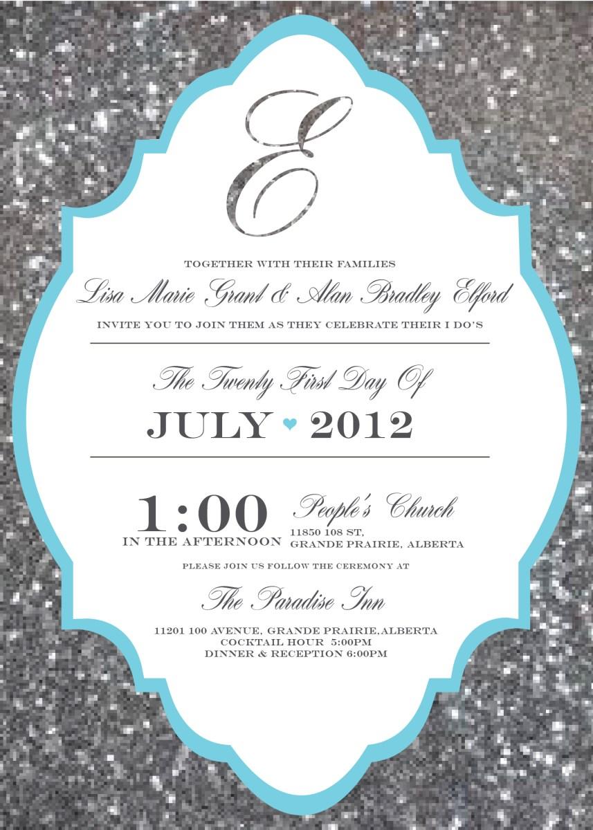 Printable Wedding Invitations Templates Printable Wedding Invitation Template Breakfast At Tiffanys