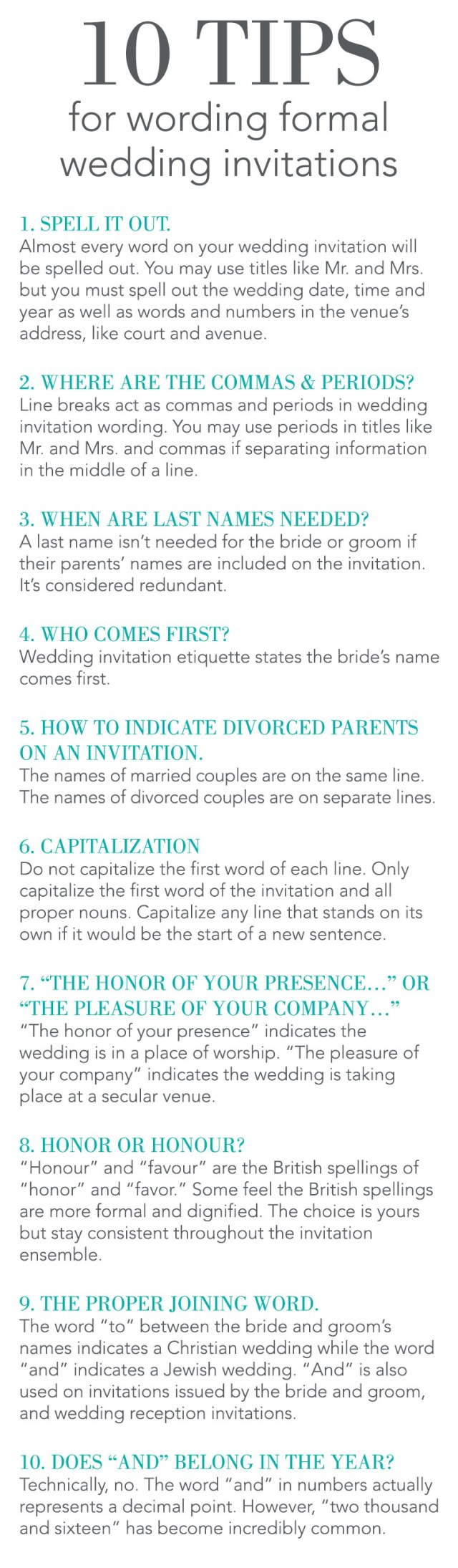 Proper Wedding Invitation 10 Tips For Wording Formal Wedding Invitations Invitations Dawn