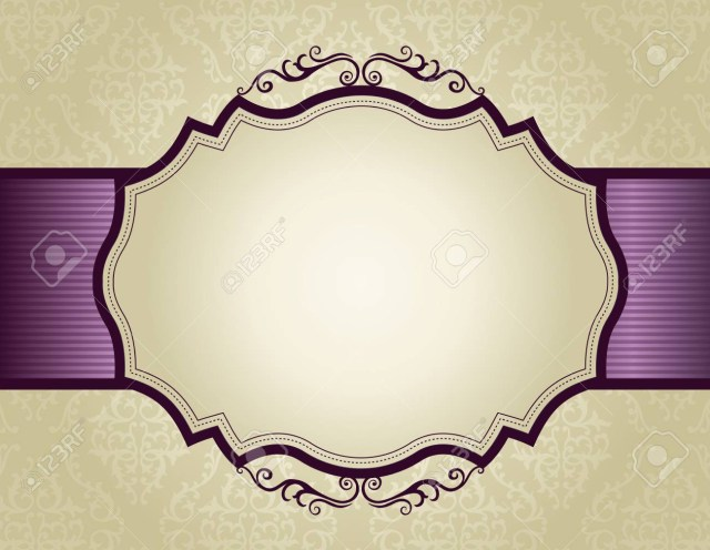 Purple And Gold Wedding Invitations Elegant Gold And Purple Damask Pattern Background With Ribbon