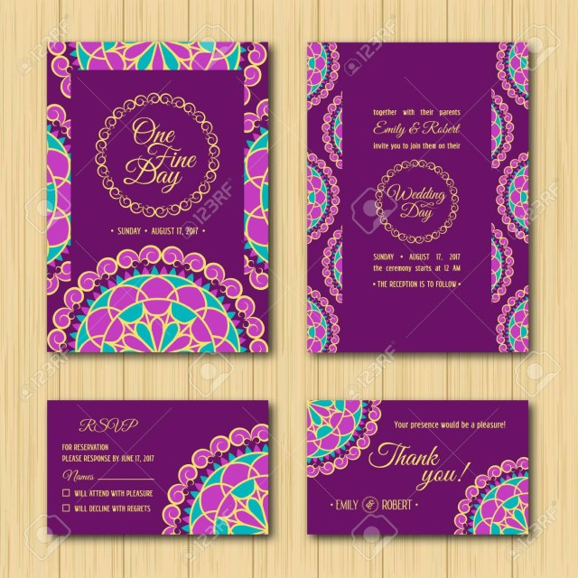 Purple And Gold Wedding Invitations Wedding Invitations Sets Save The Date And Rsvp Cards Turquoise