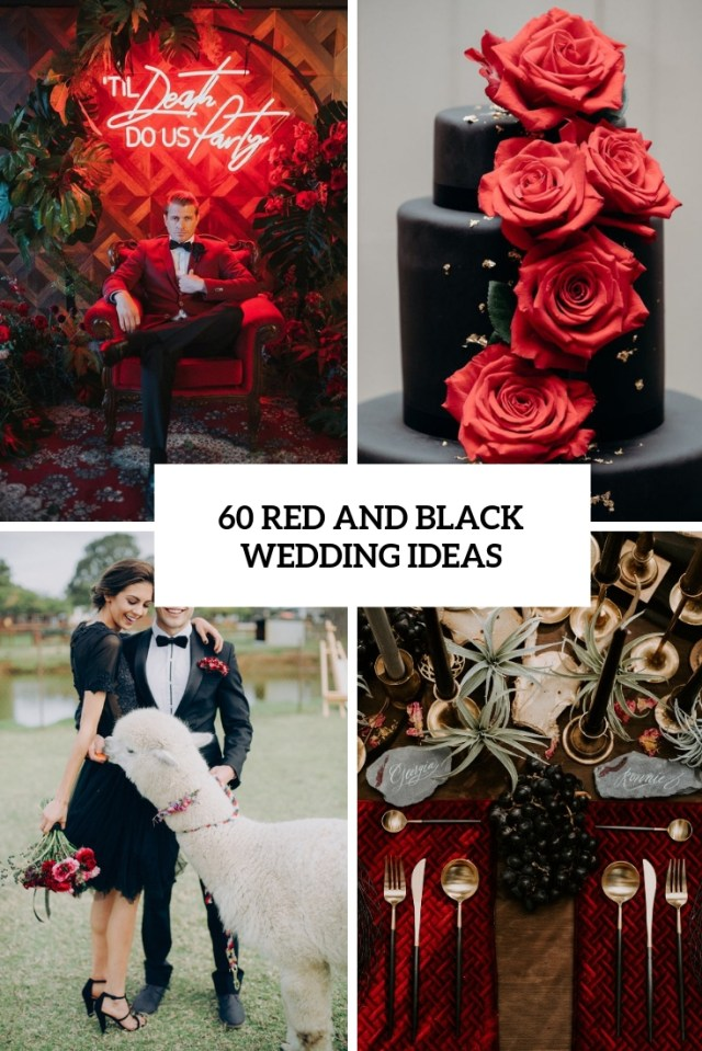 Red And Black Wedding Decorations 30 Red And Black Wedding Decor Ideas Weddingomania