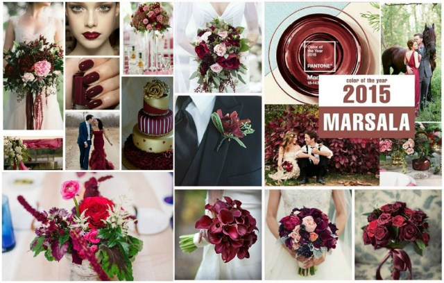 Red And Brown Wedding Decorations Luxury Wedding In Color Of Marsala