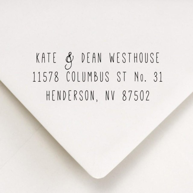 Return Address For Wedding Invitations Return Address Stamp Skinny Font Return Address For Stamping