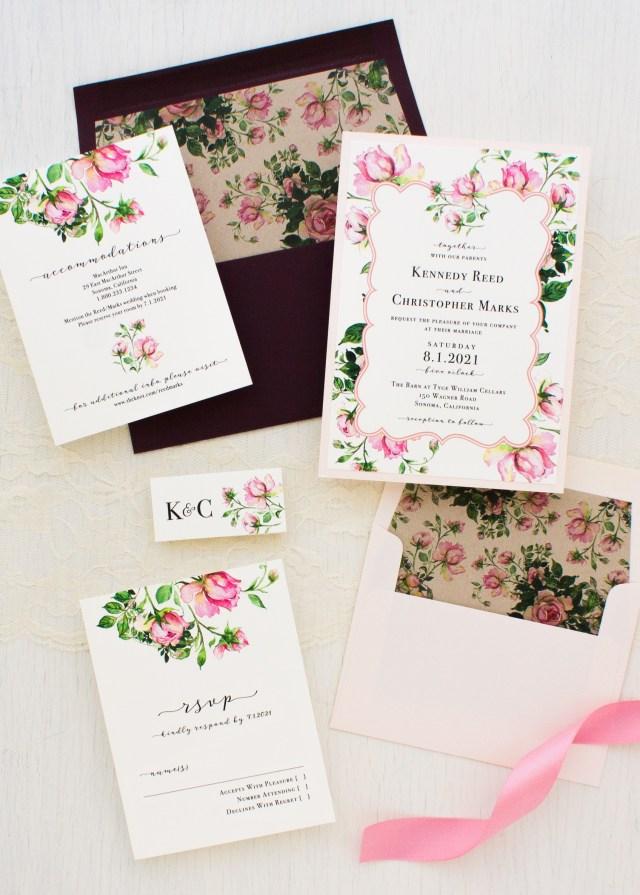 Rose Wedding Invitations Dusty Rose Wedding Invitations Beacon Lane