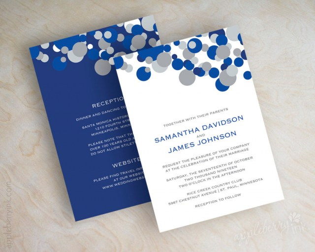 Royal Blue And Silver Wedding Invitations Black And Royal Blue Wedding Invitations Wedding Invitations