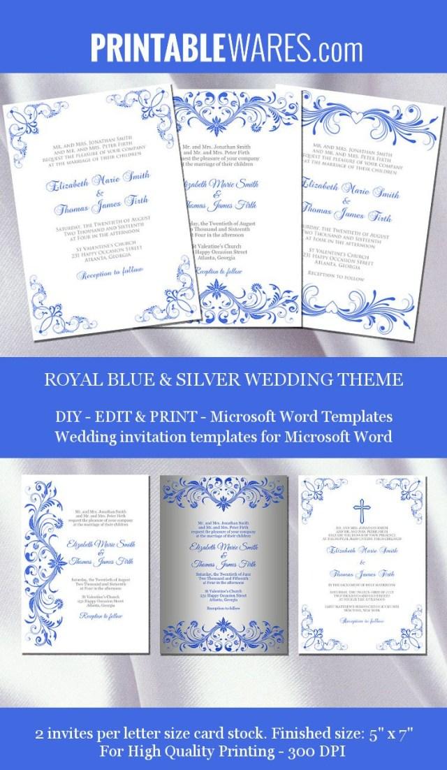 Royal Blue And Silver Wedding Invitations Royal Blue And Silver Wedding Invitation Templates For Microsoft