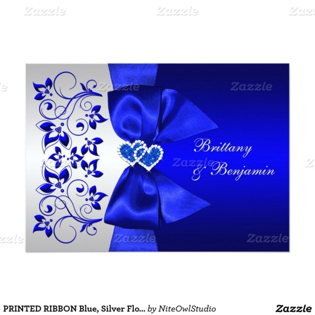 Royal Blue And Silver Wedding Invitations Wedding Invitation Cards Blank Templates Royal Blue Cool Ideas Of