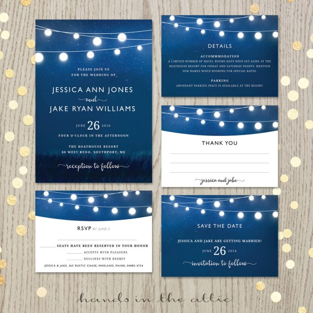 Royal Blue Wedding Invitations Royal Blue Wedding Invitation Set Printable Stationery Weddings