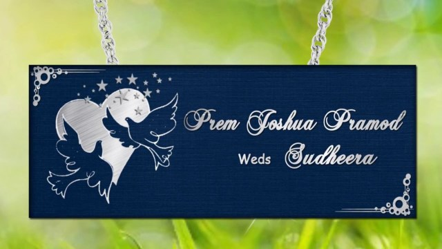 Royal Blue Wedding Invitations Wedding Invitation Video Card Animated Christian Royal Blue And
