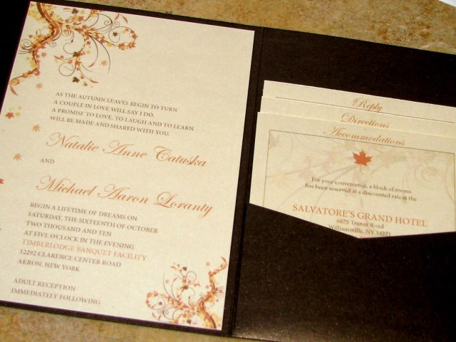 Rustic Fall Wedding Invitations Amazing Colors For Fall Wedding Invitations