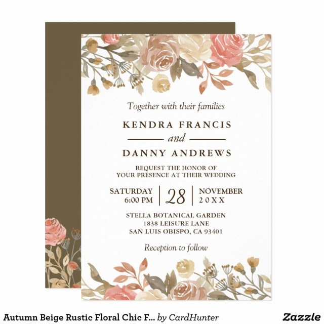 Rustic Fall Wedding Invitations Winter Themed Wedding Invitations Awesome Autumn Beige Rustic Floral