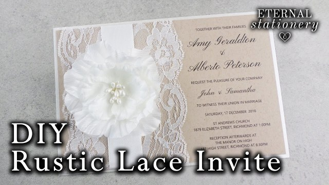 Rustic Wedding Invitations Cheap How To Make A Rustic Wedding Invitation Diy Invitations Youtube