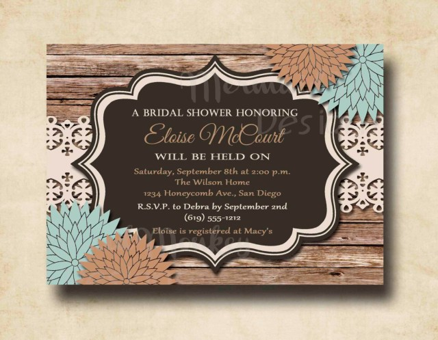 Rustic Wedding Shower Invitations Cute A Wedding To Improve Free Invitation Templates Printable