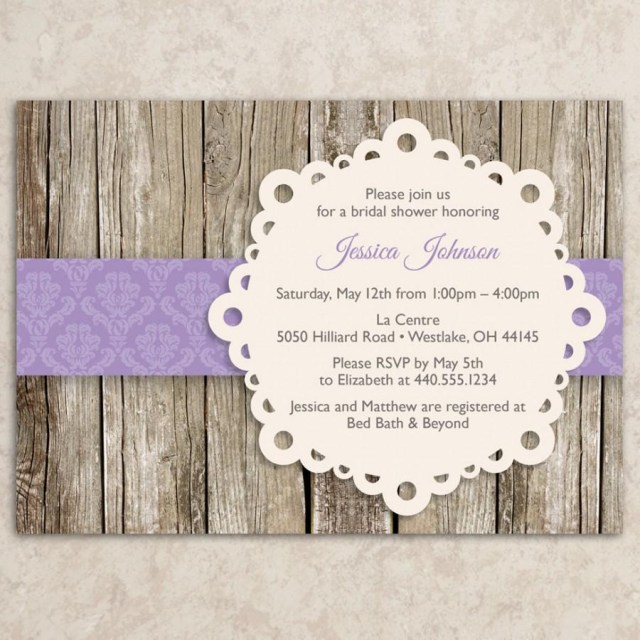 Rustic Wedding Shower Invitations Rustic Bridal Shower Invitation Diy Printable Jpeg File Vintage