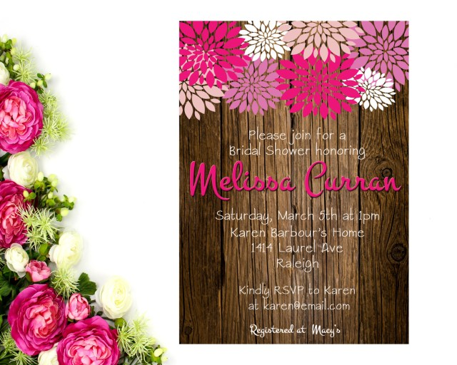 Rustic Wedding Shower Invitations Rustic Bridal Shower Invitation Rustic Bridal Shower Bridal Brunch