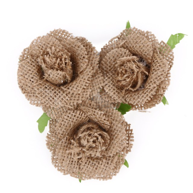 Shabby Chic Wedding Decorations 55cm Handmade Jute Hessian Burlap Flowers Rose Shab Chic Wedding