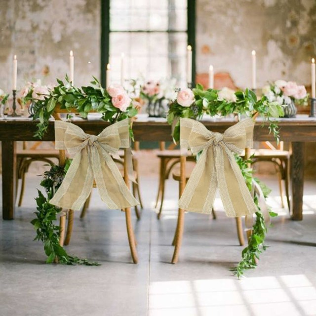 Shabby Chic Wedding Decorations Detail Feedback Questions About 100pcspack Burlap Chair Sash With