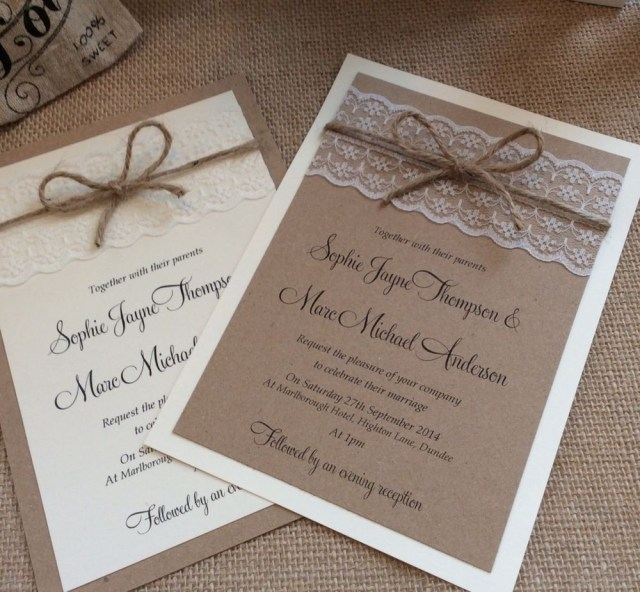 Shabby Chic Wedding Invitations 1 Vintageshab Chic Sophie Wedding Invitation With Lace And