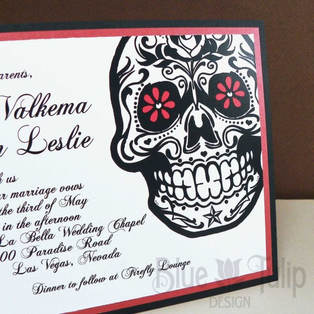Skull Wedding Invitations Day Of The Dead Wedding Invitations Lovely Sugar Skull Wedding