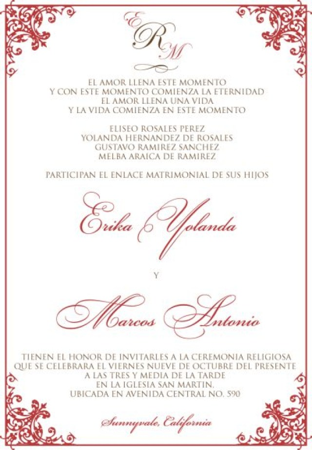 Spanish Wedding Invitations Wonderful Spanish Wedding Invitations Spanish Wedding Invitation