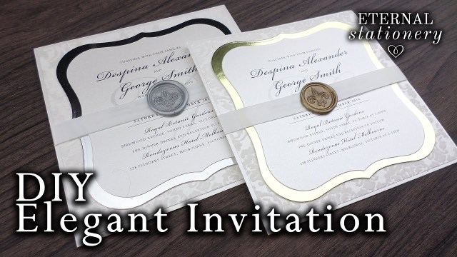 Sparkly Wedding Invitations How To Make Elegant Wedding Invitations Diy Wax Seal Invitation