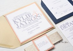Square Wedding Invitations Kylie Modern Wedding Invitation Suite All That Glitters Invitations