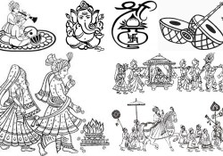 Symbols For Wedding Invitations Wedding Invitation Symbols New Clipart For Hindu Wedding Sanjay