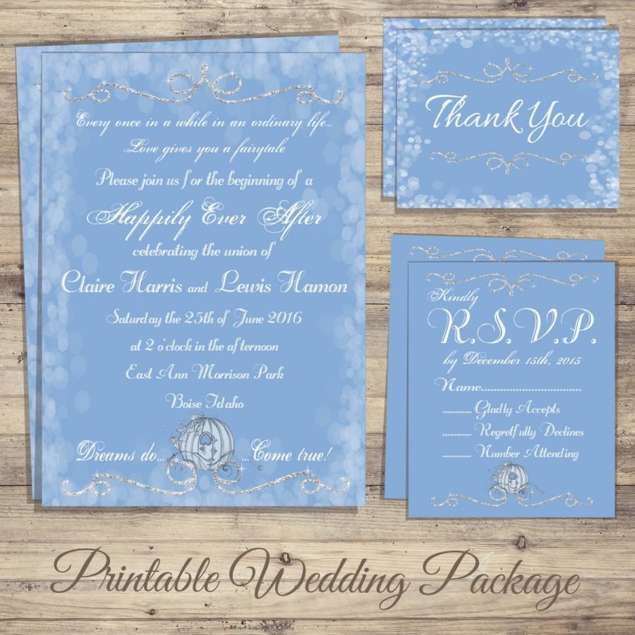 Teal Wedding Invitations Kits Cinderella Wedding Invitation Kit Cinderella Wedding Invitations