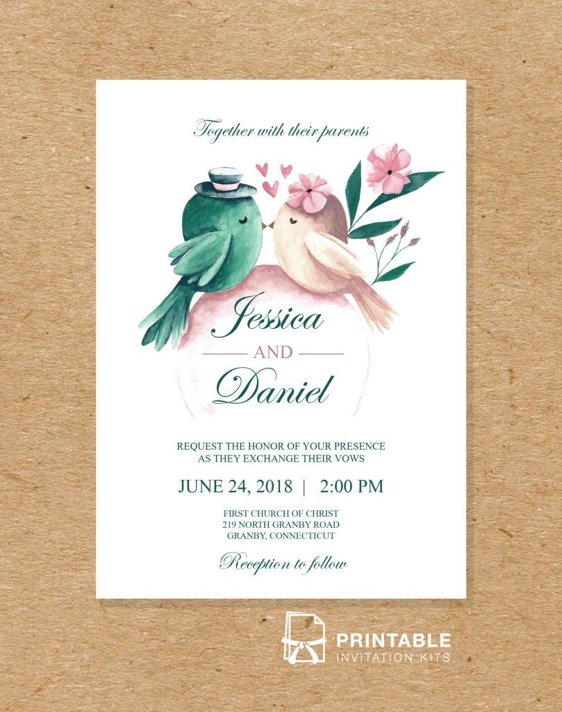 Teal Wedding Invitations Kits Free To Download And Print Pdf Wedding Invitation Printable