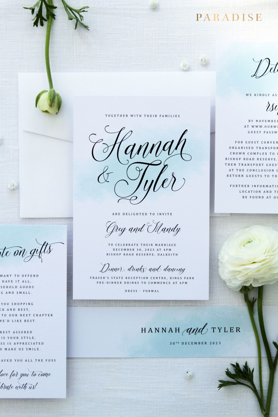 Teal Wedding Invitations Kits Odette Inspired The Sea Wedding Invitation Sets Invitation Kits