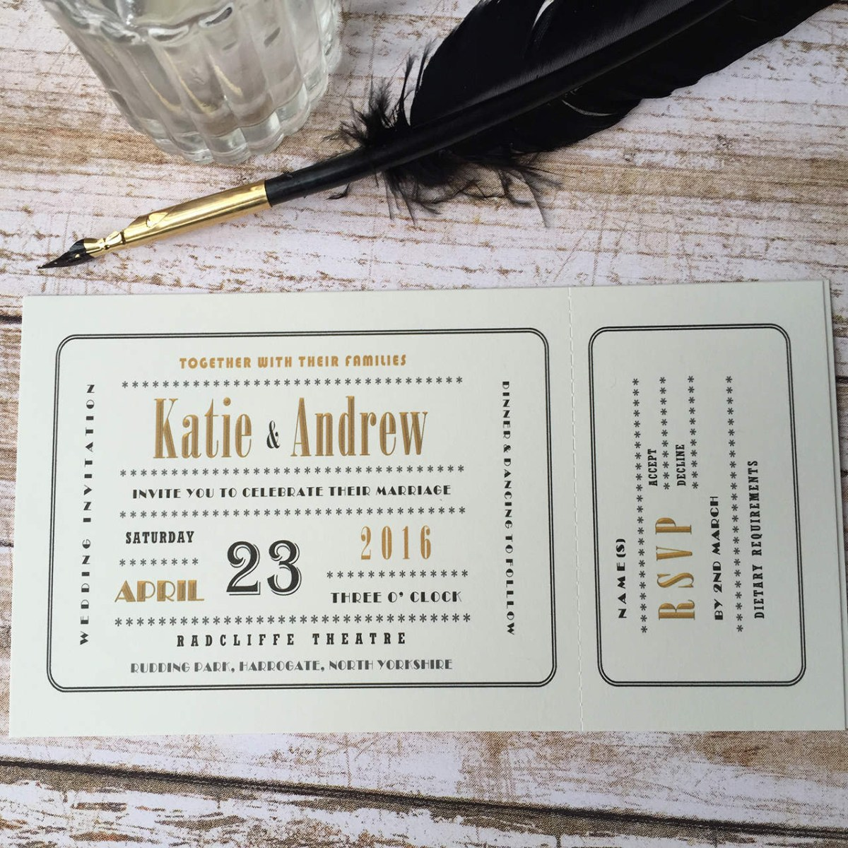Ticket Wedding Invitations Cinema Ticket Wedding Invitations Wagtail Designs
